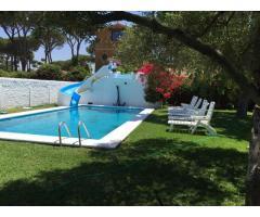 Tres bungalows con piscina