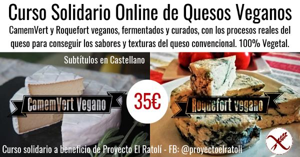 Curso de Quesos Veganos - CamemVert y Roqueforti