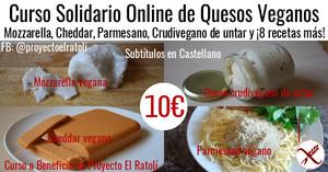 Curso de Quesos Veganos Online - Mozzarella, Cheddar, Parmesano, Crudivegano y 8 más!