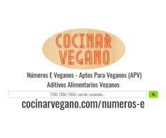 Números E Veganos - Aptos Para Veganos (APV)