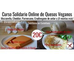Curso de Queso Veganos Online – Mozzarella, Cheddar y 8 más!