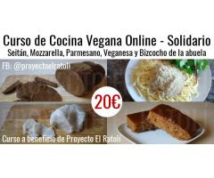 Curso de Cocina Vegana Online – Seitán, Mozzarella, Parmesano, Veganesa y Bizcocho