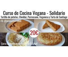 Curso de Cocina Vegana Online – Tortilla de patatas, Cheddar, Parmesano y Tarta de Santiago